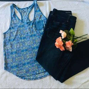 Colorful Blue Tank top